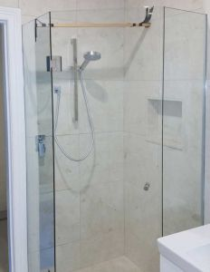 Custom Frameless  3 Sided Splayed Showerscreen