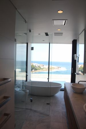 Custom Frameless 3 Panel Front and Return Shower Screen - Coogee