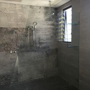 Custom Frameless Single Panel Shower Screen - North Bondi