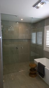Custom Frameless Shower Screen - Double