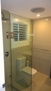 Custom Frameless Front and Return Shower Screen - Roseville